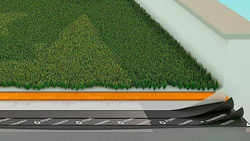 Impermeabilització de cobertes i teulades - gespa artificial