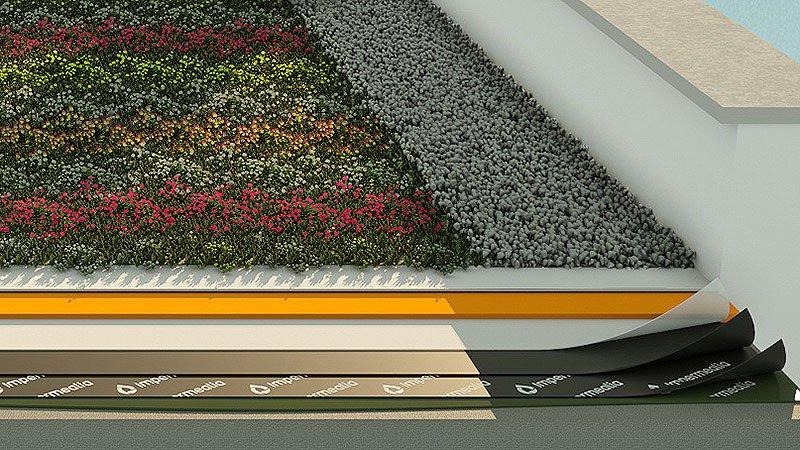 Impermeabilització de cobertes i teulades - enjardinat