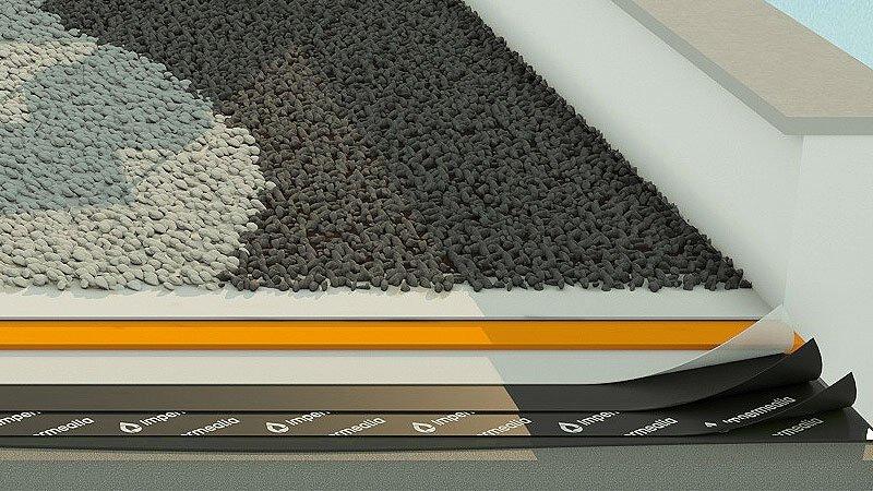 Impermeabilització de cobertes i teulades - grava