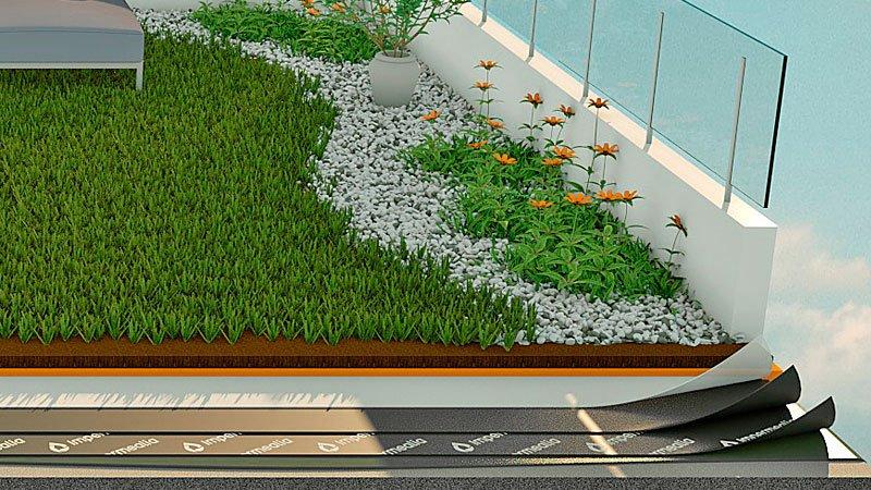 Impermeabilització de terrasses i terrats - ajardinat