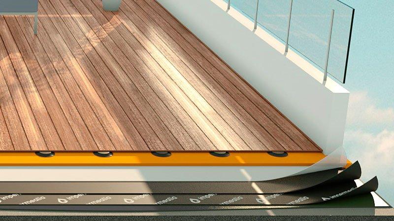 Impermeabilització de terrasses i terrats - flotant de fusta