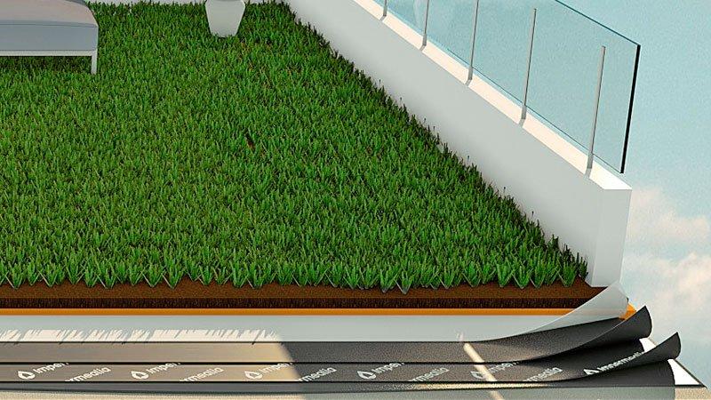 Impermeabilització de terrasses i terrats - gespa artificial