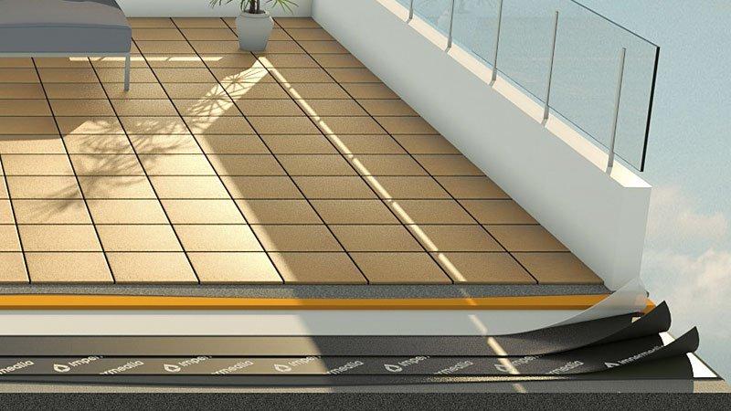 Impermeabilització de terrasses i terrats - rajola
