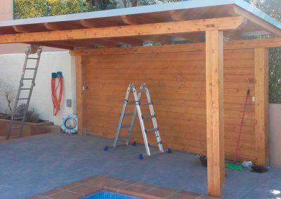 Cobert de fusta, impermeabilització, l'Escala