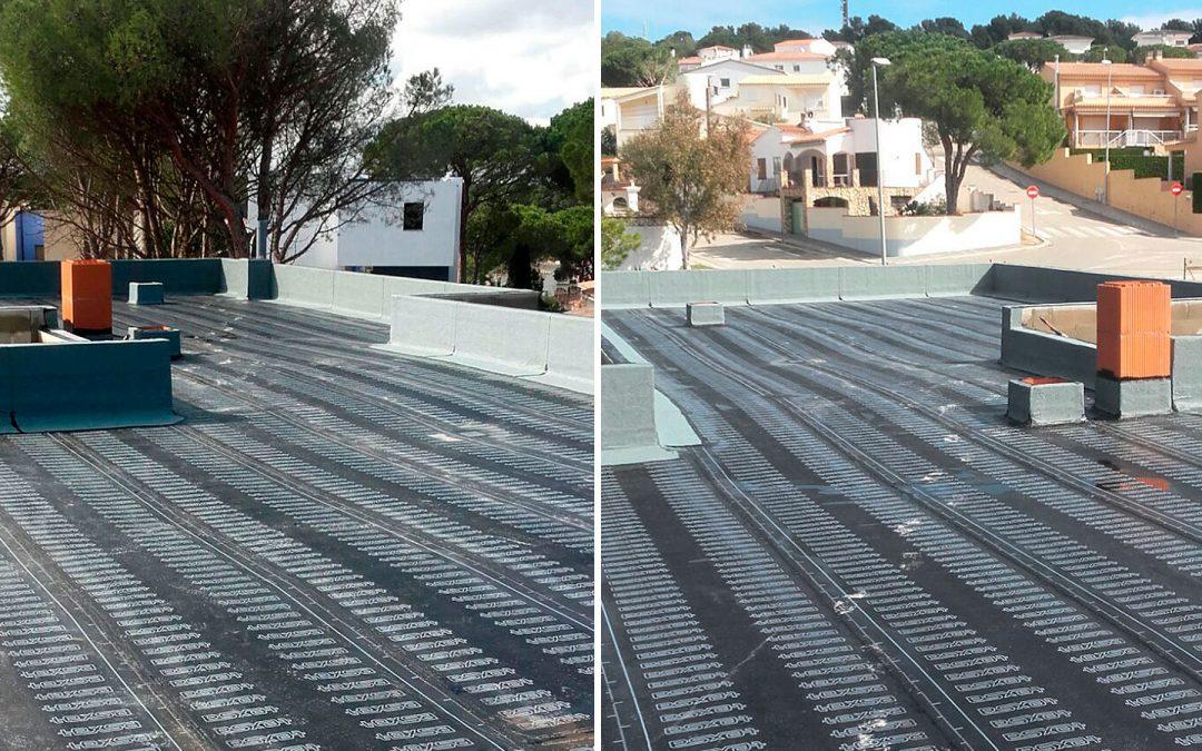 Impermeabilització de coberta casa unifamiliar, l'Escala