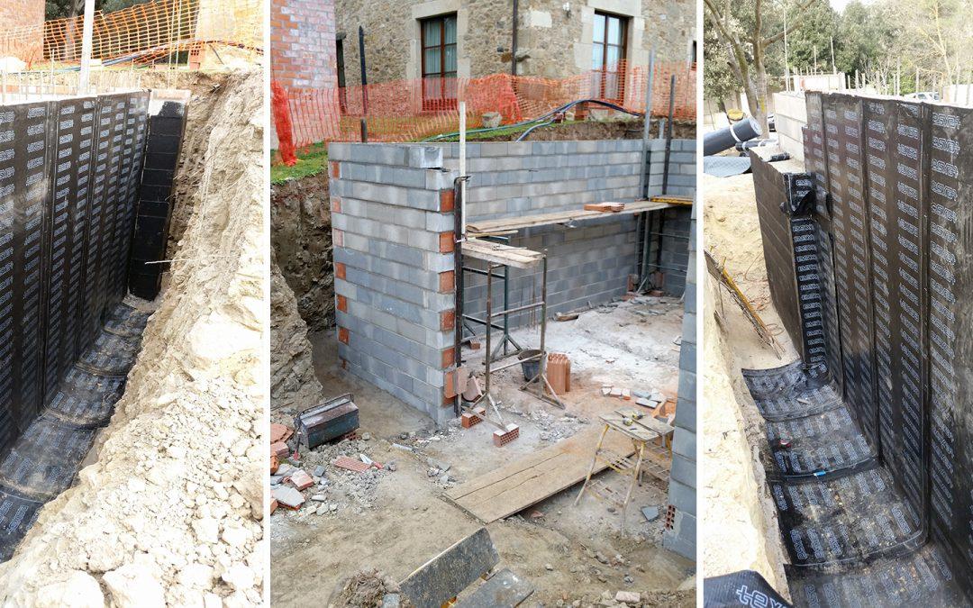 Impermeabilització mur casa unifamiliar, Sant Martí Vell