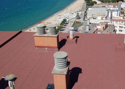 Rehabilitació de coberta d'habitatge plurifamiliar, Palamós