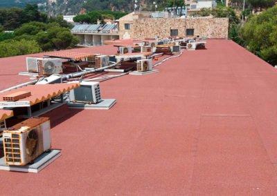 Rehabilitació de coberta d'hotel, Sant Feliu de Guíxols
