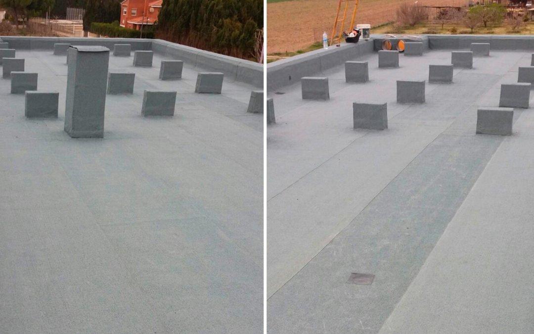 Impermeabilització de coberta de casa unifamiliar, Ventalló