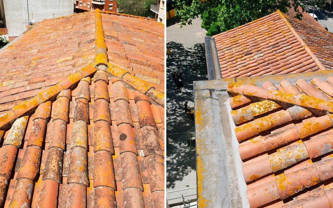 Manteniment de coberta d'un centre escolar, Girona