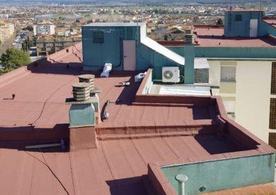 Rehabilitació de coberta en edifici d'habitatges, Banyoles