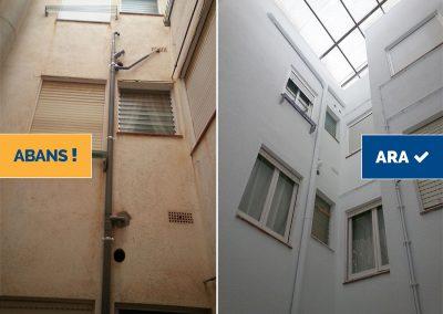 Rehabilitació façanes interiors edifici plurifamiliar, Tossa de Mar