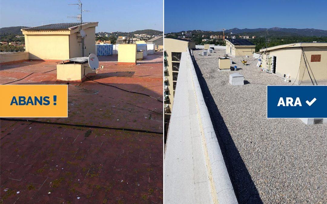 Rehabilitació de coberta en edifici plurifamiliar, Platja d'Aro