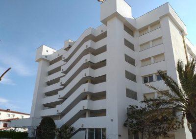 Rehabilitació de façana en edifici plurifamiliar, l'Escala
