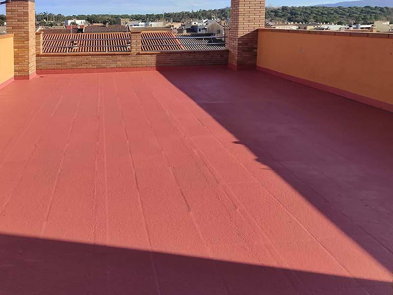 Impermeabilització terrassa per degoters, Olot