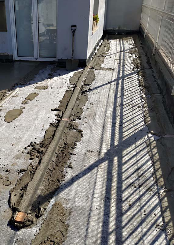 Modificació dels pendents amb morter de ciment