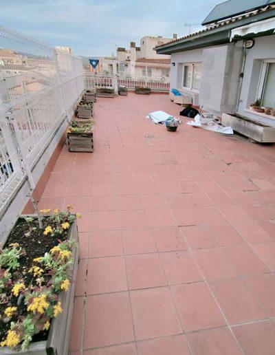 Envelliment de la terrassa amb problemes de filtracions