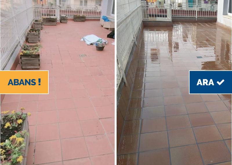 Rehabilitació de la terrassa per eliminar filtracions i humitats, Girona