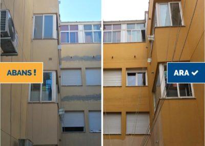 Rehabilitació amb treballs verticals façana posterior, Santa Coloma de Farners